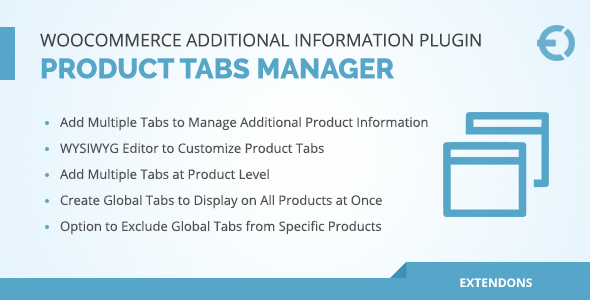 Plugin WooCommerce tabs manager
