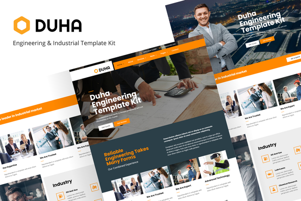 Duha - Engineering & Industrial Template Kit