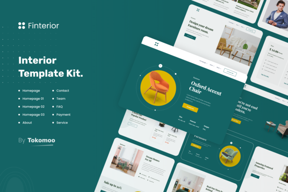 Finterior | Interior Elementor Template Kit