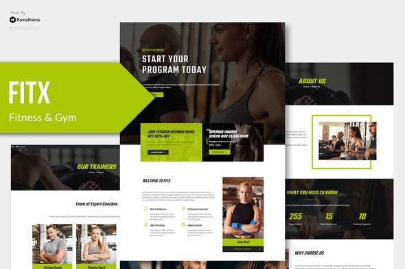 Fitx - Fitness & Gym Template Kit