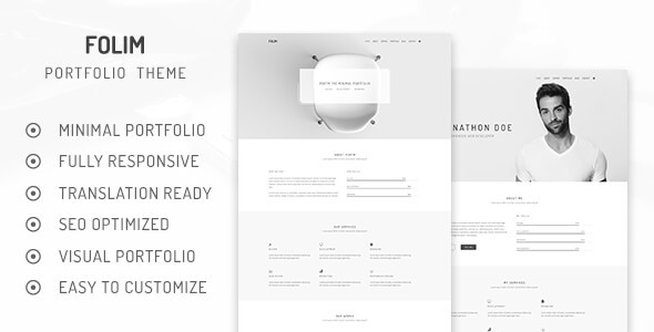 Folim – Clean Minimalist Portfolio WooCommerce WordPress Theme – Motyw wordpress