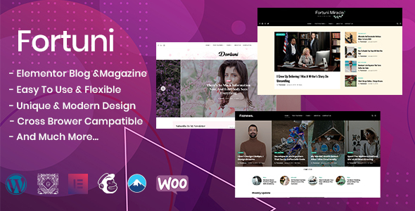Fortuni - WordPress Blog & Magazine Temat