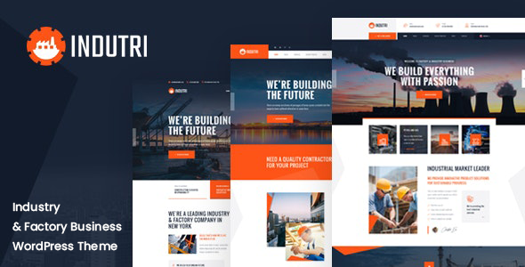 Indutri - Factory & Industrial WordPress Theme