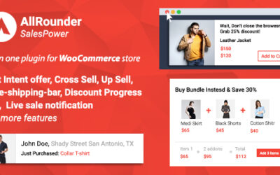 SalesPower – WooCommerce Cross Sell, Upsell, Live Sales Notifications, Discount Bar, Exit Intent