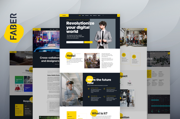 Faber – Template Kits for Tech Company Elementor