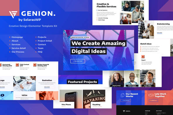 Genion | Creative & Design Elementor Template Kit