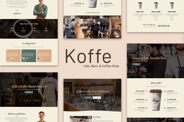 Koffe - Cafe & Coffee Shop Template Kit
