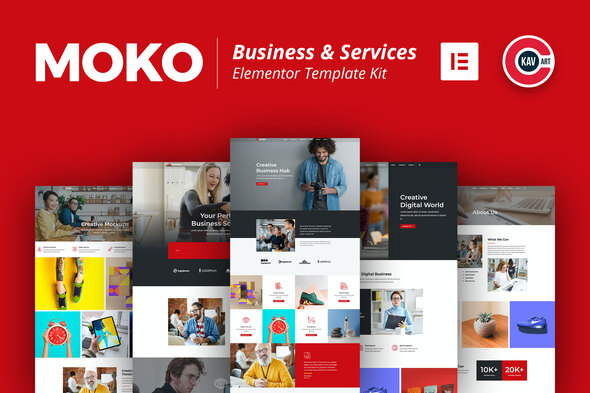 Moko - Business & Services Elementor Template Kit