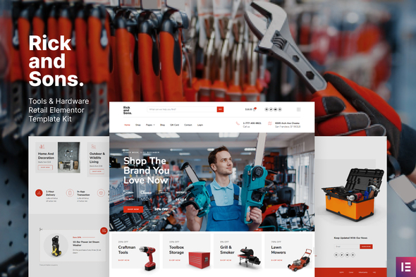 Rick and Sons - Tools & Hardware Retail WooCommerce Template Kit