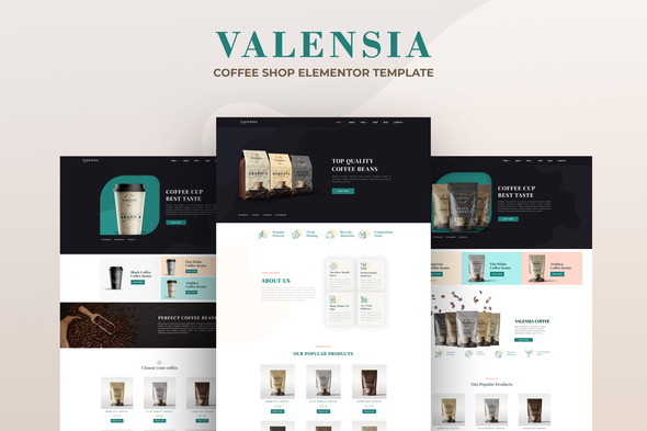 Valensia | Coffee Shop Elementor Template Kit