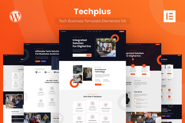 Techplus – Tech Business Elementor Zestaw Templatek Elementor
