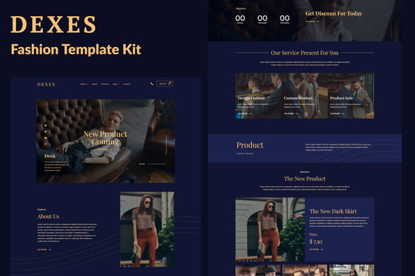 Dexes – Fashion eCommerce Elementor Zestaw Templatek Elementor