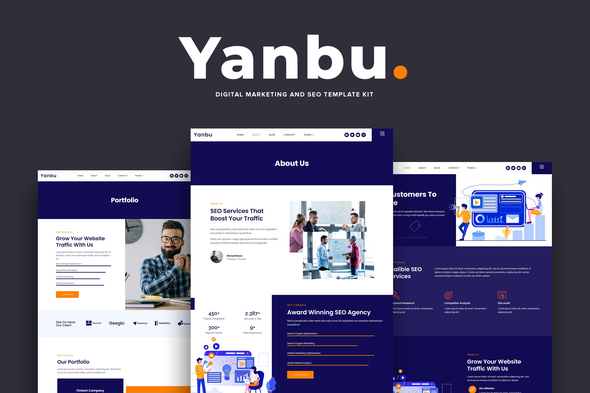 Yanbu – Digital Marketing & SEO Zestaw szablonów Elementor Elementor