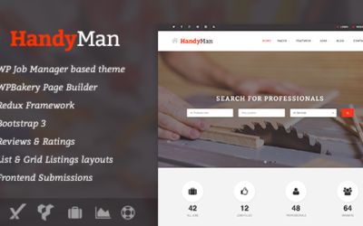 Handyman – Job Board WordPress Motyw