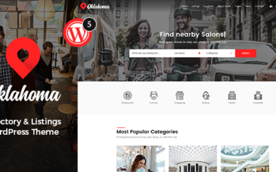 Oklahoma – Katalog & Listings WordPress Motyw