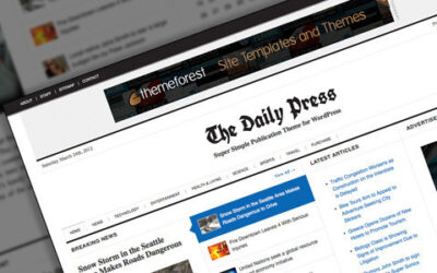 The Daily Press: Super Simple WP Publication Motyw